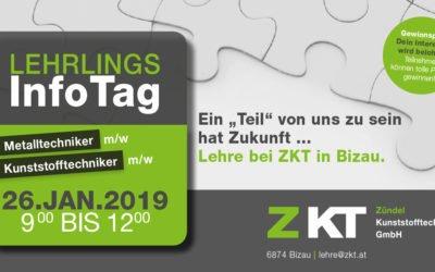 Lehrlings-Info Tag bei ZKT Zündel Kunststofftechnik GmbH